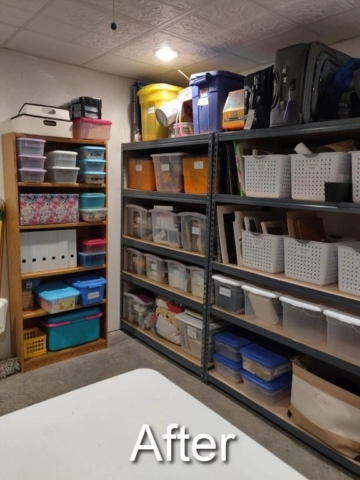 organized basement storage stores so much more