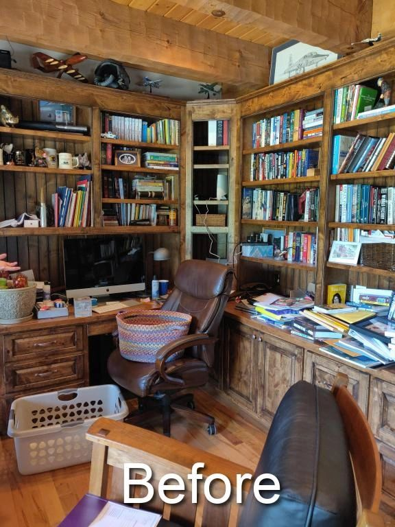 organized home office with a purpose