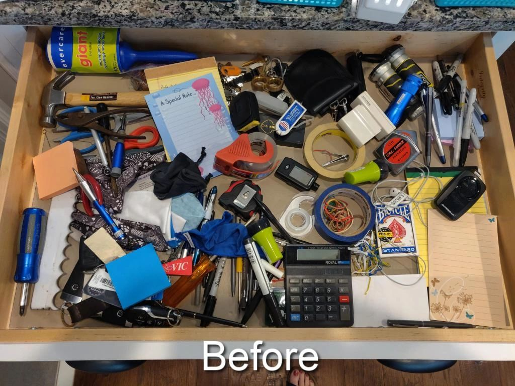 junk drawer turned functional drawer
