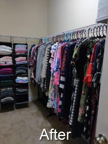 home organizer reinvents master closet